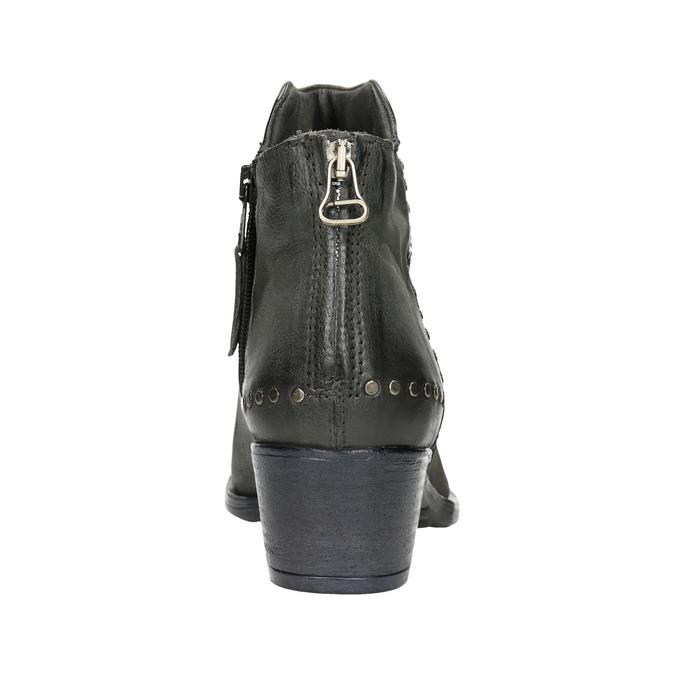Kožené členkové čižmy bata, šedá, 596-9659 - 16