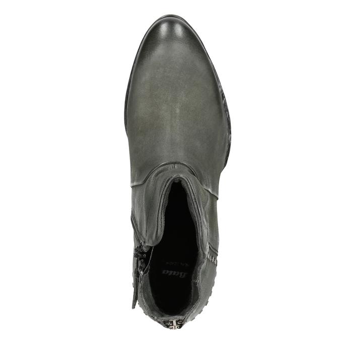 Kožené členkové čižmy bata, šedá, 596-9659 - 15