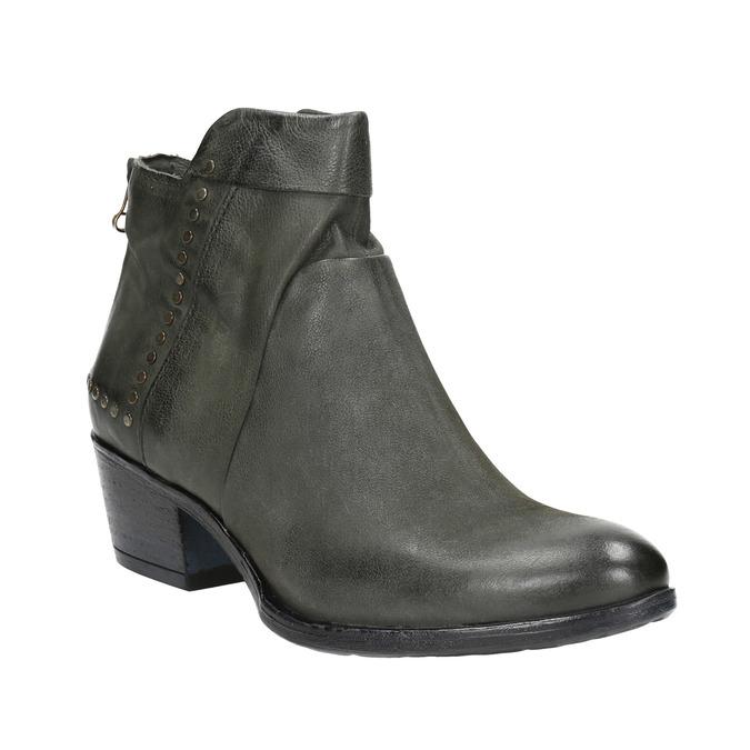 Kožené členkové čižmy bata, šedá, 596-9659 - 13