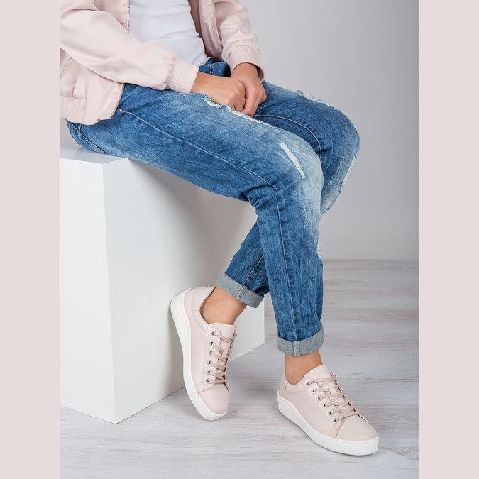 Dámske kožené tenisky bata, ružová, 526-5641 - 19