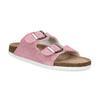 Kožená dámska domáca obuv de-fonseca, ružová, 573-5621 - 13