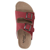 Kožené dámske papuče de-fonseca, červená, 573-4621 - 19