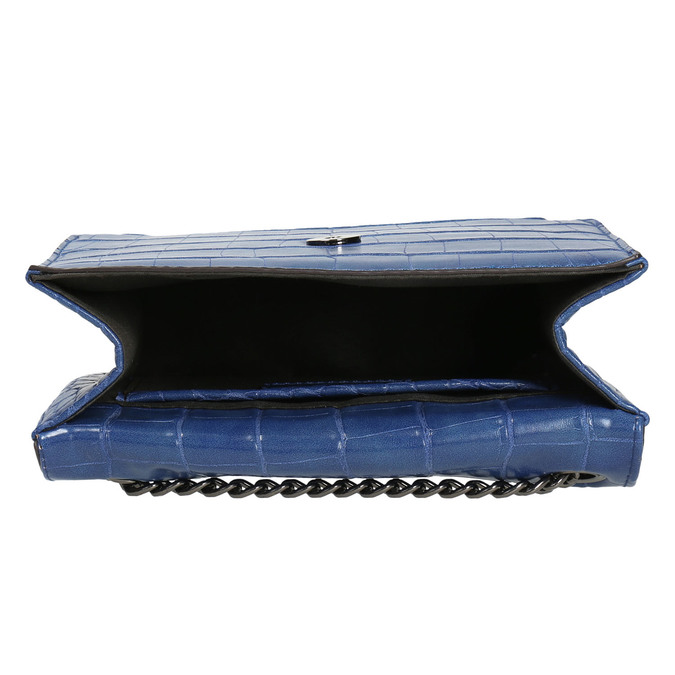 Modrá kabelka so štruktúrou bata, modrá, 961-9753 - 15