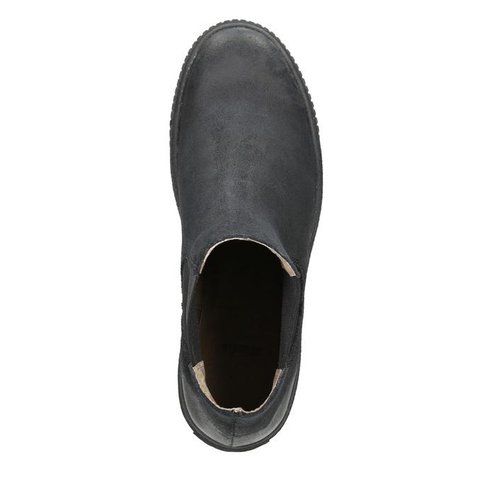 Dámska kožená členková obuv bata, čierna, 596-6671 - 15