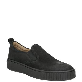 Kožená dámska Slip-on obuv bata, čierna, 516-6613 - 13