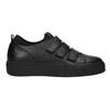 Čierne kožené tenisky na suchý zips bata, čierna, 526-6646 - 26
