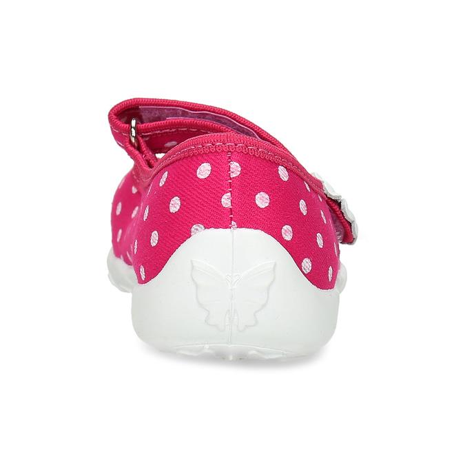 Domáce papuče s bodkami mini-b, ružová, 379-5214 - 15