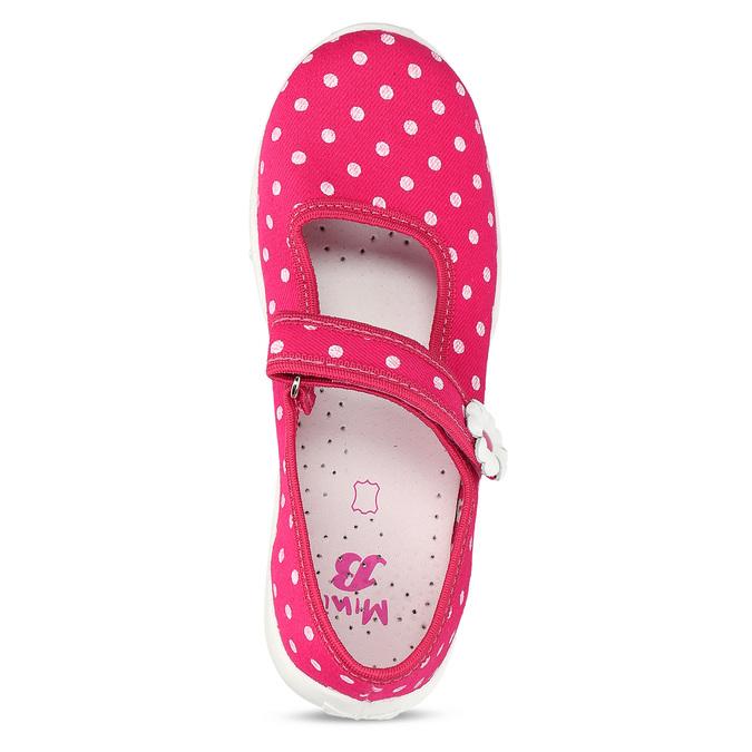 Domáce papuče s bodkami mini-b, ružová, 379-5214 - 17