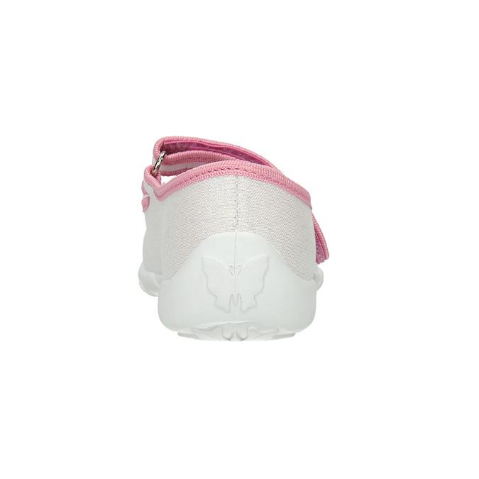 Detská domáca obuv s mašličkou mini-b, biela, 379-1214 - 17