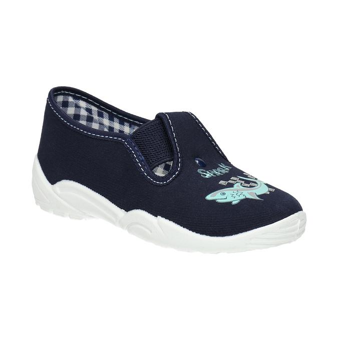 Detské papuče so žralokom mini-b, modrá, 379-9213 - 13