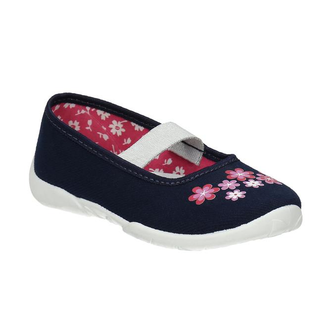 Domáca obuv s kvietkami mini-b, modrá, 379-9215 - 13