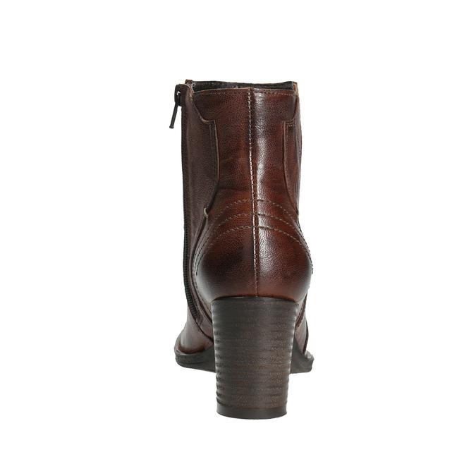 Kožené členkové čižmy bata, hnedá, 696-4626 - 17