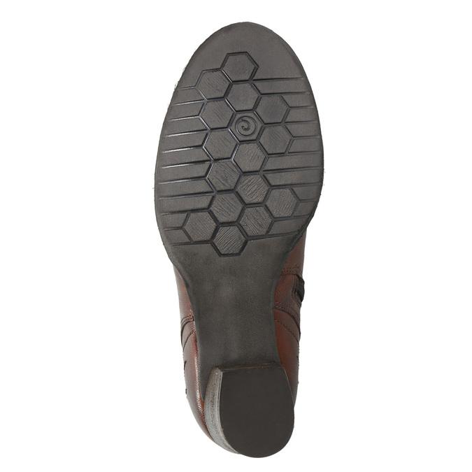 Kožené členkové čižmy bata, hnedá, 696-4626 - 19