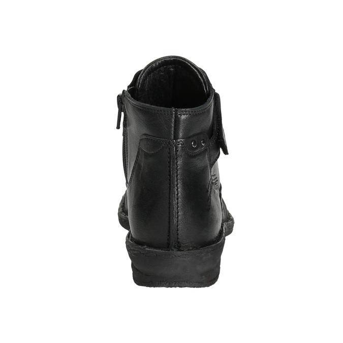 Členková dámska obuv bata, čierna, 596-6656 - 17