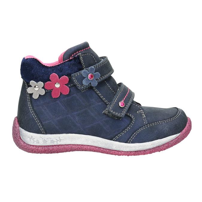 Dievčenská obuv na suchý zips bubblegummers, modrá, 221-9607 - 15