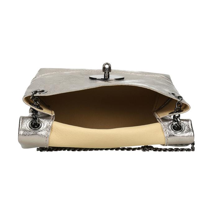Dámska kožená Crossbody kabelka bata, zlatá, 964-8839 - 15