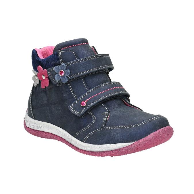 Dievčenská obuv na suchý zips bubblegummers, modrá, 221-9607 - 13
