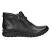 Kožená členková obuv so zipsami bata, čierna, 594-6642 - 15