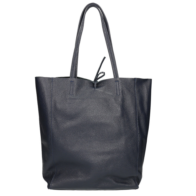 Kožená dámska Shopper kabelka bata, modrá, 964-9122 - 16