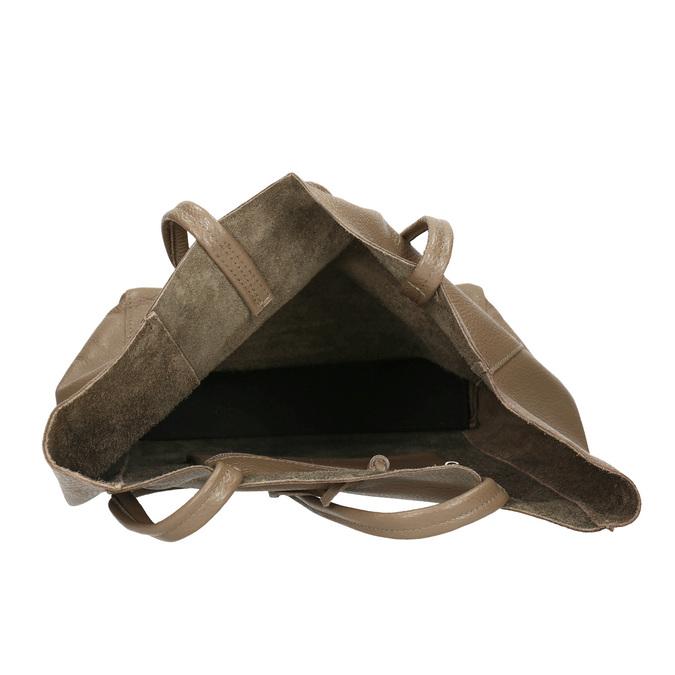 Dámska kožená kabelka s mašľou bata, béžová, 964-2122 - 15