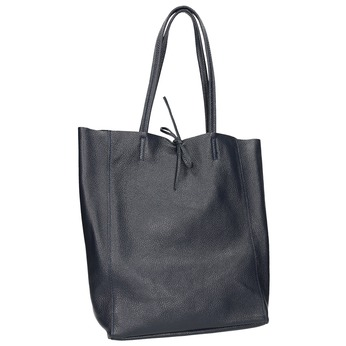 Kožená dámska Shopper kabelka bata, modrá, 964-9122 - 13
