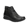 Kožená členková obuv so zipsami bata, čierna, 594-6642 - 13