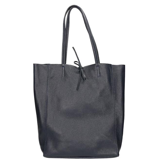 Kožená dámska Shopper kabelka bata, modrá, 964-9122 - 26