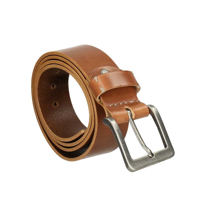 Kožený pánsky opasok bata, hnedá, 954-3191 - 13