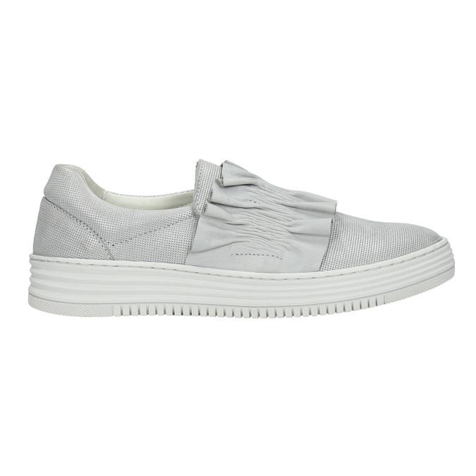Dámska kožená Slip-on obuv bata, šedá, 516-1614 - 15