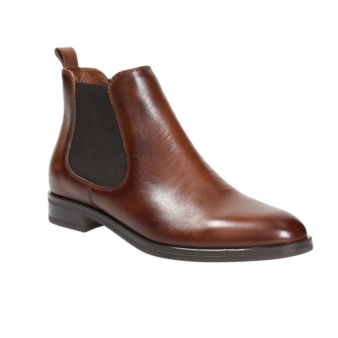 Kožená dámska Chelsea obuv bata, hnedá, 594-4635 - 13