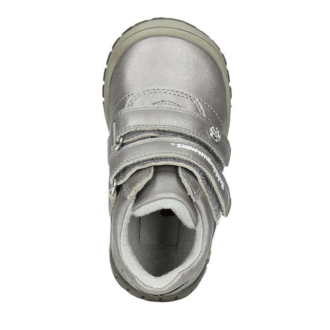 Dievčenská členková obuv s ozdobnou aplikáciou bubblegummers, strieborná, 121-1622 - 19