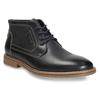 Pánska členková obuv s prešitím bata, čierna, 826-6614 - 13