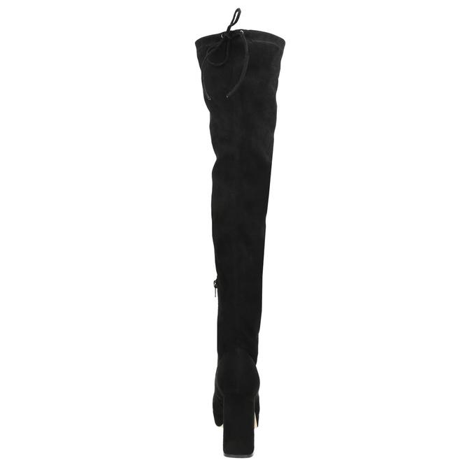 Čierne dámske čižmy nad kolená bata, čierna, 799-6663 - 17