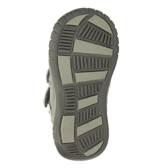 Dievčenská členková obuv s ozdobnou aplikáciou bubblegummers, strieborná, 121-1622 - 26