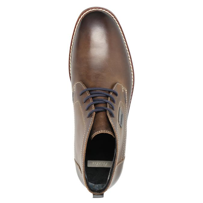 Kožená pánska členková obuv bata, hnedá, 826-4614 - 19