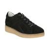 Kožené tenisky na výraznej flatforme bata, čierna, 523-6604 - 13