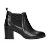 Dámska kožená členková obuv bata, čierna, 694-6641 - 15