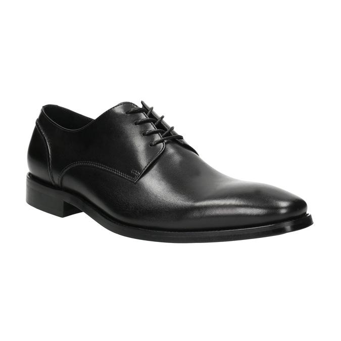 Čierne kožené Derby poltopánky bata, čierna, 824-6405 - 13