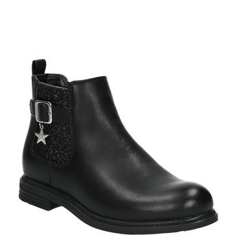 Detská Chelsea obuv s trblietkami mini-b, čierna, 321-6613 - 13