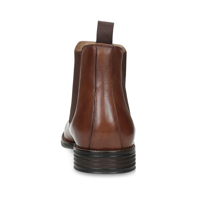 Hnedé kožené Chelsea Boots bata, hnedá, 896-3400 - 15