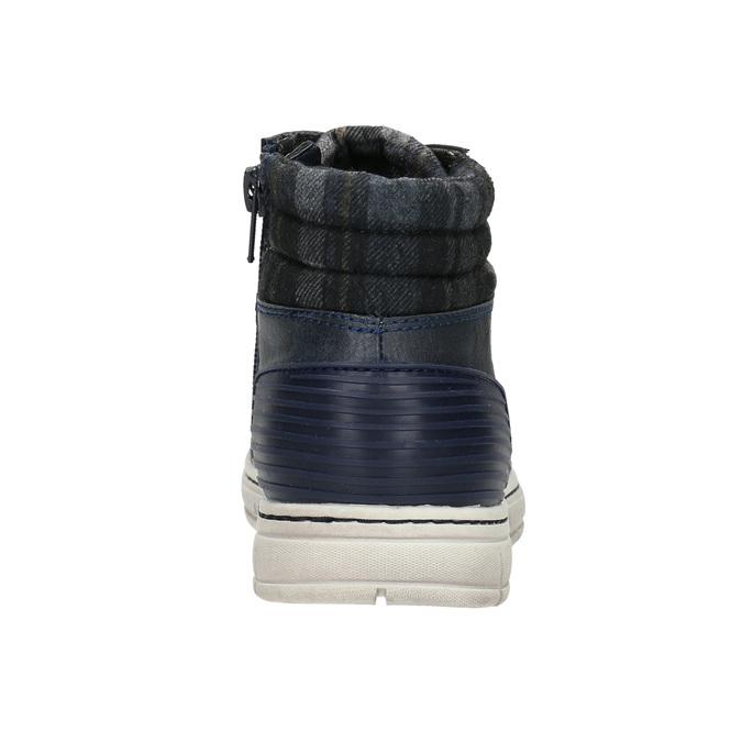 Členková detská obuv na zips mini-b, modrá, 311-9611 - 17
