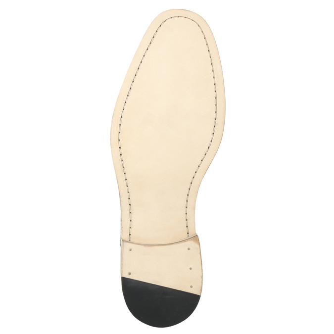 Celokožené hnedé Oxford poltopánky bata, hnedá, 826-3414 - 19