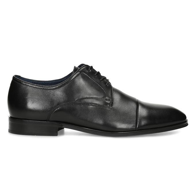 Kožené pánske Derby poltopánky bata, čierna, 824-6406 - 19