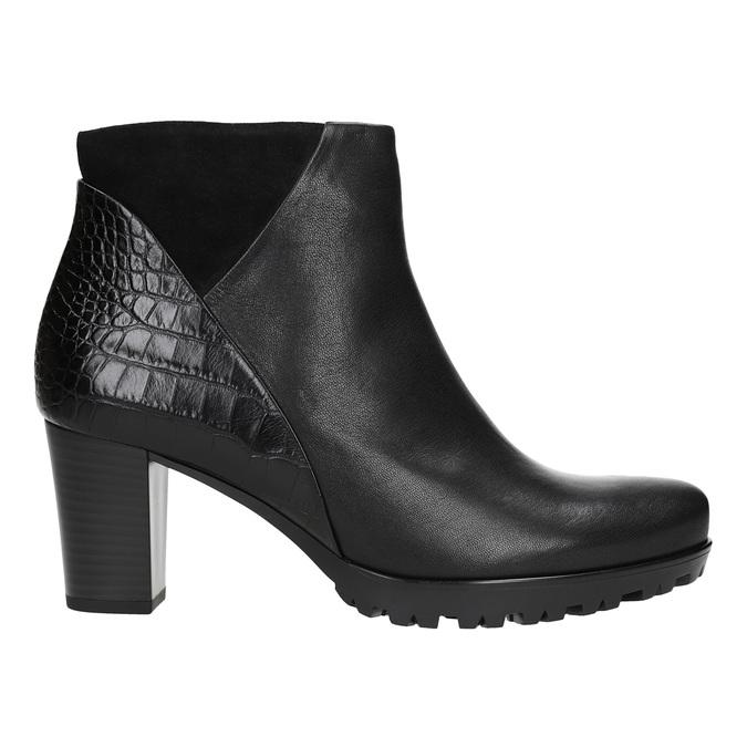 Dámska členková obuv na podpätku gabor, čierna, 716-6029 - 26