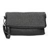 Dámska listová kabelka s cvočkami bata, čierna, 961-6791 - 17