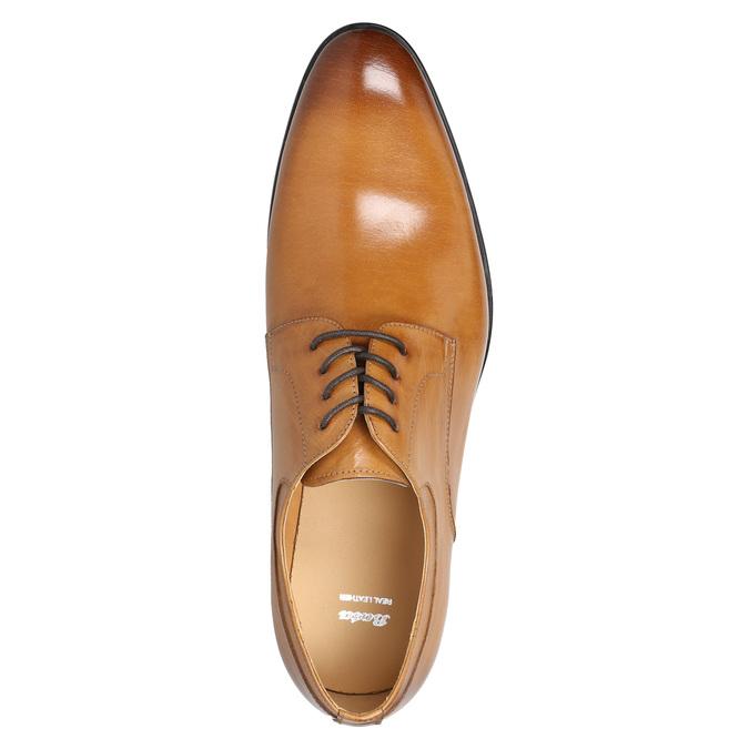 Kožené pánske Ombré poltopánky bata, hnedá, 824-3233 - 19