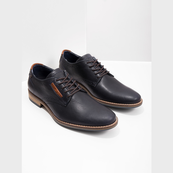 Neformálne kožené poltopánky bata, modrá, 826-9910 - 18