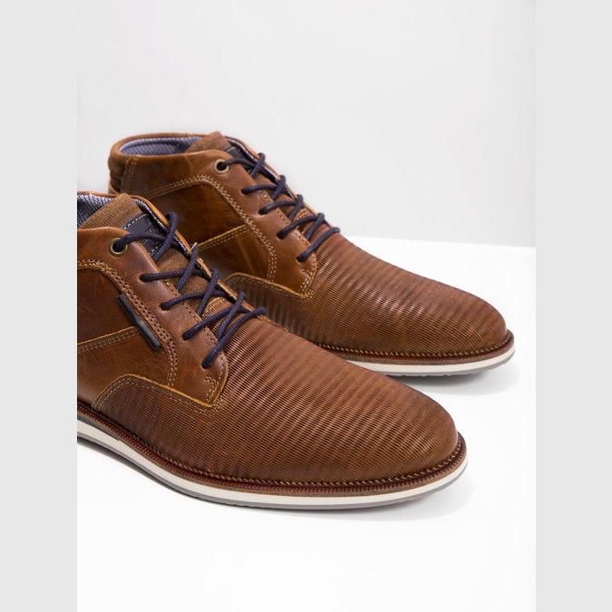 Ležérna členková obuv z kože bata, hnedá, 826-3912 - 18