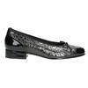 Kožené baleríny šírky G gabor, čierna, 626-6117 - 26