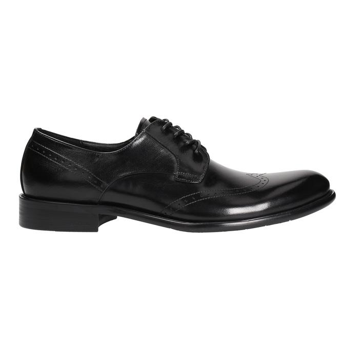 Pánske kožené Brogue poltopánky bata, čierna, 824-6227 - 15